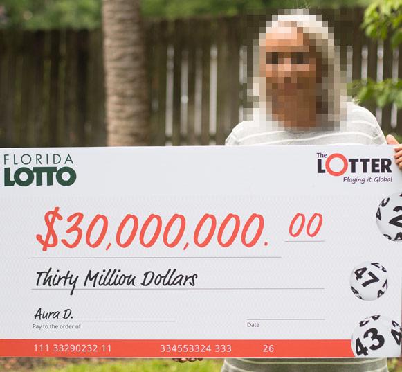mujer gana lotería