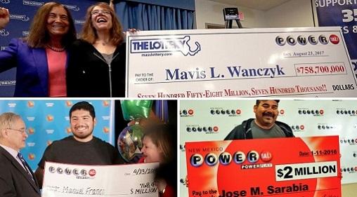 Ganadores de lotería en EE. UU.